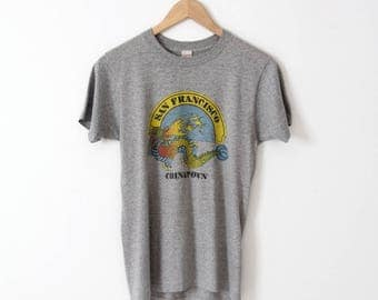 vintage San Francisco Chinatown t-shirt, gray graphic tee