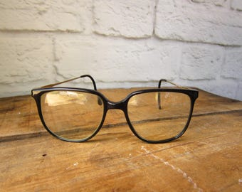 Vintage Black Oversize Glasses LA Gear 90's Optics - Trendy Eyewear