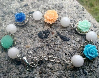Flowery summer, and moonstone beads