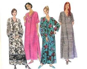 Vintage Caftan Pattern, Muu Muu, Boho, Bust 44 46 48, McCalls 8543 Vintage Sewing Pattern, Size XL, XXL