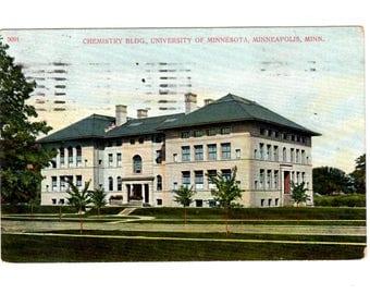 UNIVERSITY OF MINNESOTA, Chemistry Building, Minneapolis Minnesota Vintage Postcard