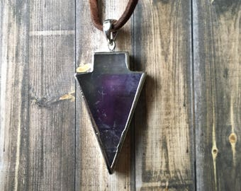 Flourite arrow necklace