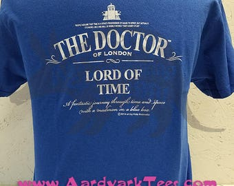 Doctor of London - Lord of Time - Whovian Fan Tee - Tea Styling