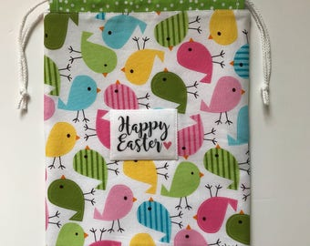 Reusable Easter Gift Bag - Party Favor - Treat Bag - fabric and reusable - eco friendly