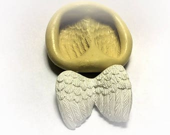 Angel wings flexible silicone mold/clay, resin, sweets, pmc,Fondant, wax and more