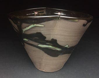 Black Clay Oval Vessel