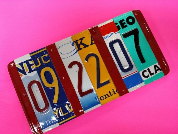 10 year anniversary gift Pick the states license plate sign, 10 year aluminum anniversary gift,traditional 10 year anniverary