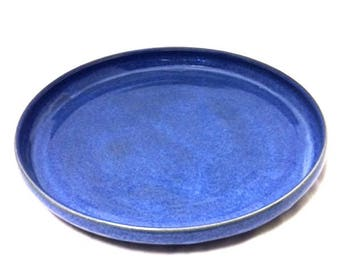 Bright Blue Ceramic Plate, Serving Plate, Place Setting, Dinner Plate, Serving Platter