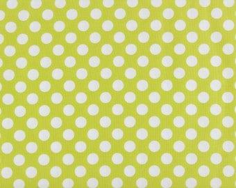 CLEARANCE Michael Miller Ta Dot Celery Green Polka Dot Fabric on Sale, CX1492 celery