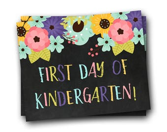 First Day of Kindergarten Sign, First Day of School Sign, Back to School Sign, Kindergarten Sign