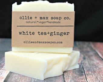 White Tea and Ginger Soap, Vegan Soap, Natural Soap, Organic Soap