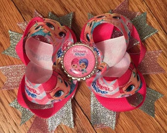 Large Shimmer and Shine Hair Bow