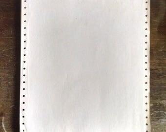Vintage Perforated Printer Paper