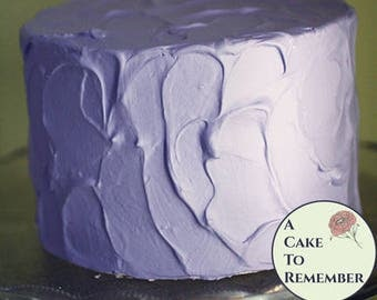 """Lavender fake cake, 6"""" round faux cake for wedding cake cupcake display, food prop, photo shoots or home staging. Fake food theatrical prop."""