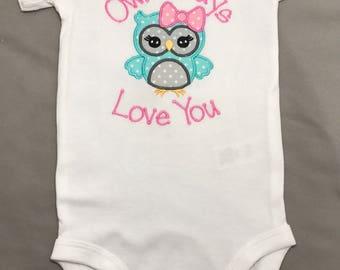 Owl Onesie - Owl Always Love You Onesie- Personalized Owl Onesie