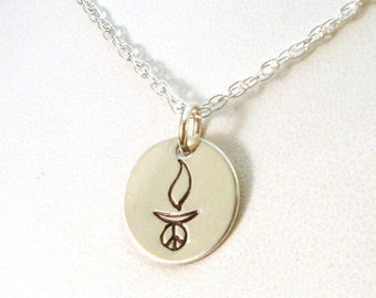 SALE CIJ2017 UU Peace Chalice Necklace - Sterling Silver Necklace Handmade by the Uu Artist