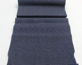 SALE Japanese Artisan Cotton. Vintage Yukata Bolt. Blue Indigo Katazome Stencil Design. Hand Dyed(Ref: 1693)