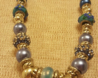 nothing but blue skies - a euro style ribbon necklace for after the rainy season