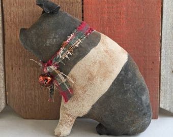 primitive decor - primitive country decor - farmhouse decor - primitive pig - pot belly pig - rustic home decor - rustic decor - ranch decor