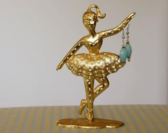 Torino Earring Holder, Vintage Earring Display, Ballerina Gift, Earring Tree Stand, Ballet Decor