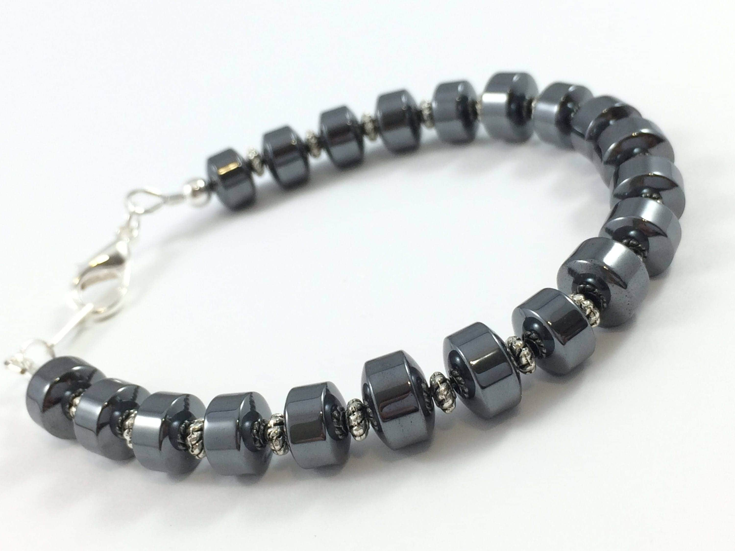 necklace sterling hematite silver jewellery in jewelry elle