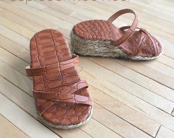 Wedge heel sandals with platform for Feeple 60 Moe
