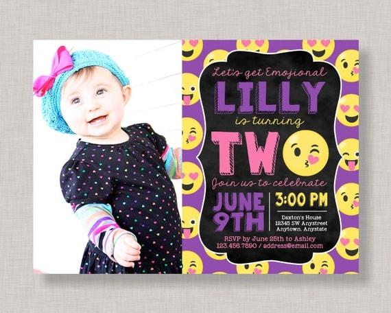 Emoji 2nd birthday invitations emoji second birthday invitations il570xn filmwisefo Choice Image