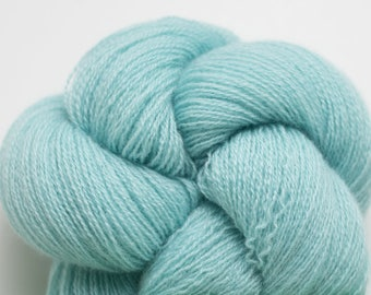 Caribbean Aqua Recycled Cashmere Lace Weight Yarn, CSH00293