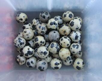 8mm Dalmation Jasper Gemstone Beads
