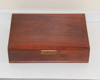 Vintage Naken's Silverware Chest or Silverware Box