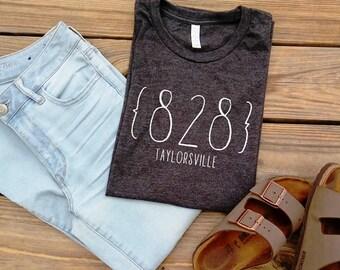 Area Code Shirt - Zip Code Shirt - Custom Shirt - Womens T shirt - Womens shirt - Womens Tee - State Tee - Home Sweet Home