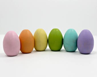 Wood Eggs - Pastel Rainbow
