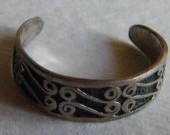 Sterling Silver Toe Ring //Celtic Design Jewelry // Precious Metals