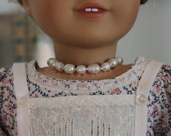 Upcycled Faux Baroque Pearl Choker for 18 Inch Doll, AC132
