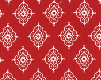 11457-16 Moroccan Red, Trade Winds by Lily Ashbury for Moda