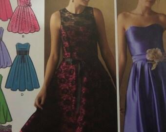 BUBBLE DRESS Pattern • Simplicity 4070 • Miss 6-14 • Strapless Dress • Bridesmaid Dress • Sewing Pattern • Modern Patterns • WhiletheCatNaps
