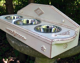 Custom Pet Feeder, Wall Mounted Pet Bowl, Pet Furniture, Pet Bowl, Dog Bowls, Elevated Pet Bowl, Pet Dish, Raised Pet Feeder, Made To Order