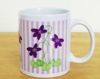 Violet Flower Mug