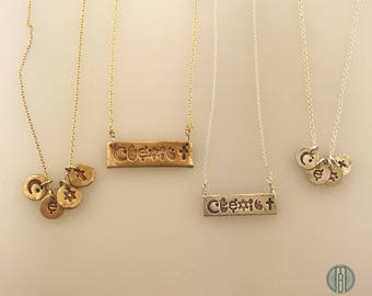 Coexist Necklace, Coexist Bar Necklace, Coexist Charm, Unity, Causes, Peace and Love