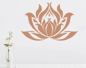 Lotus Stencil for Painting a Lotus Blossom