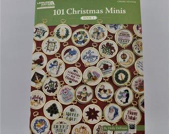 101 Christmas Minis - Book 2 - Cross Stitch Pattern - DIY - Project Instruction Book -
