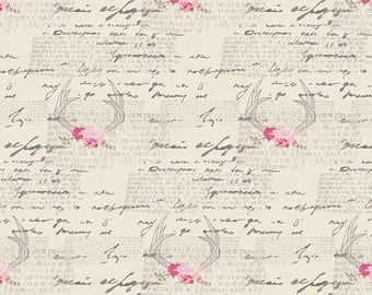 Fabric by the Yard - Art Gallery Fabrics Vintage Chic Capsules in Amorous Manuscript