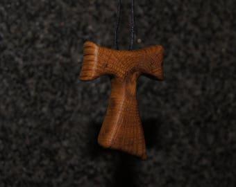 Tau cross - Oak  wood