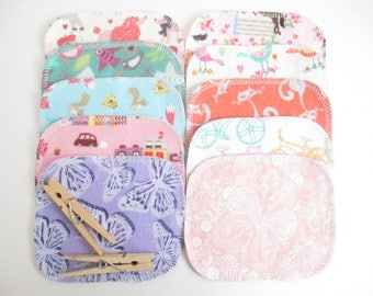 "Open-Ended Children's Play Wipes/Makeup Removal Wipes--Set of 10--Mini--LIMITED EDITION--""Flip Flopped""--Fun Girls Mix--Ready to Ship"