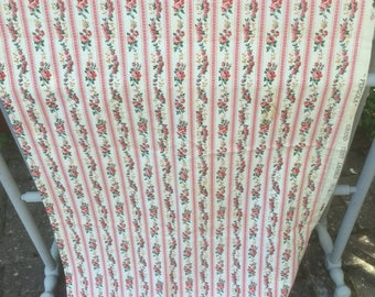 Vintage French  floral curtain panel