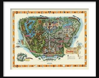 "Disneyland Map 24"" x 36"""
