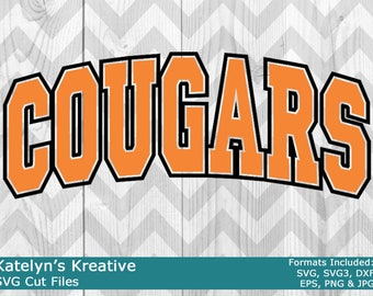 Cougars Arched SVG Files