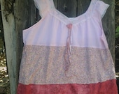 summer XXXL Plus soft rose hand dyed texas boho shabby rose pink linen lace cottage chic country gypsy shabby prairie fashion tunic shirt