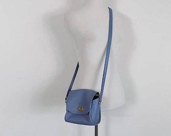 ON SALE Lavender Coach Purse - Small Cross Body Shoulder Bag - Vintage Coach Leather