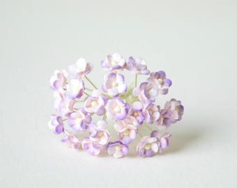 10  mm /  20   Mixed  Colors of  Mulberry Paper  Flowers